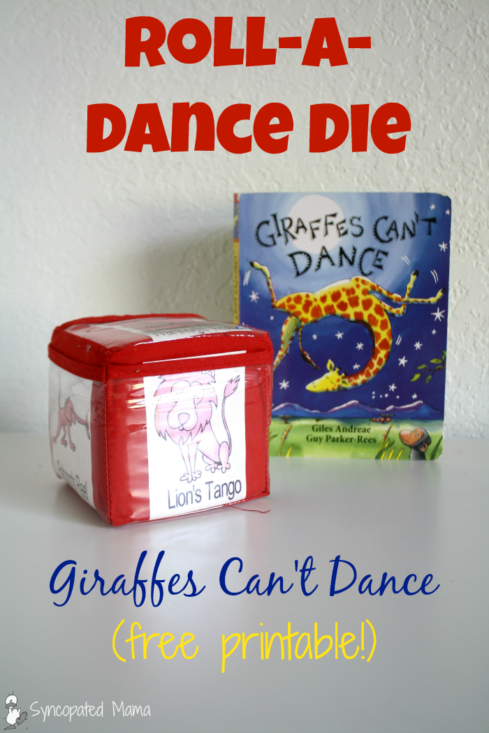 Syncopated Mama Giraffes Cant Dance RollaDance Die free printable