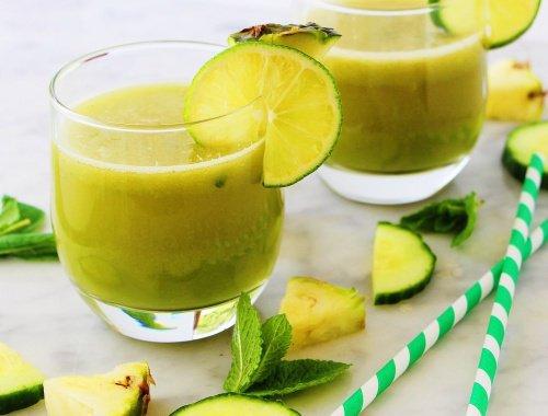 Boisson de pomme , ananas, menthe et citron