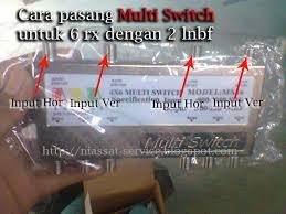 Cara Instalasi Atau Pasang Multi Switch 6 Receivers Untuk 2 Lnbf Dengan 1 Parabola Niassat Service
