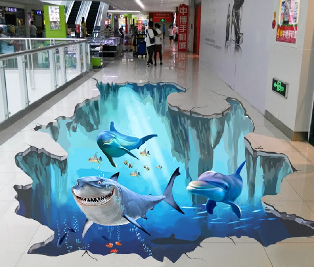 epoxy 3D flooring for public areas