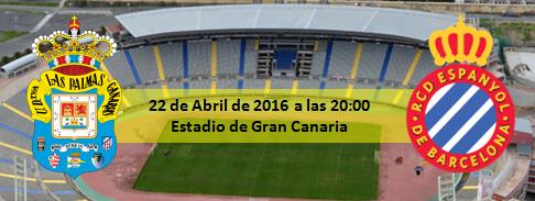 Previa UD Las Palmas - RCD Español 22 Abril a las 20:00