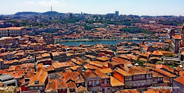Porto e Vila Nova de Gaia vistos da Torre dos Clérigos