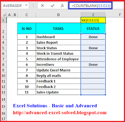 How to use COUNTBLANK function to count Blank cells in Excel