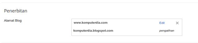 Cara Membuat dan Mengatur Custom Domain TLD Dewaweb Di Blogger