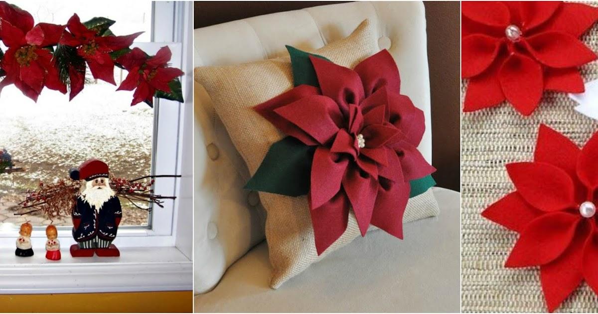 Aprende c mo hacer flores navide as con fieltro y for Manualidades navidenas con cartulina