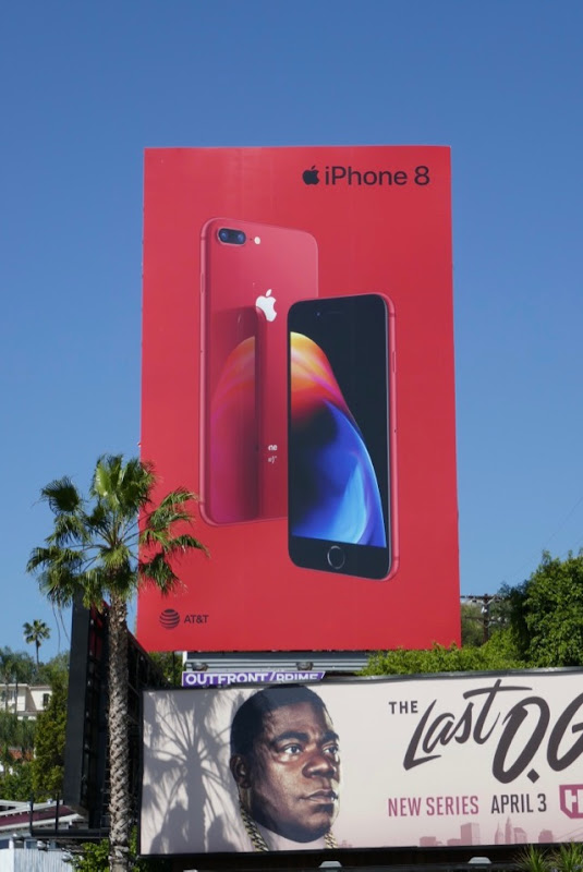 PRODUCT RED iPhone 8 billboard