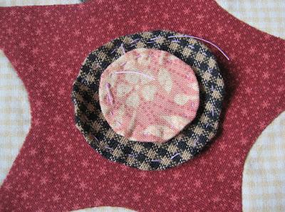 applique flower for gwennie-inspired medallion quilt
