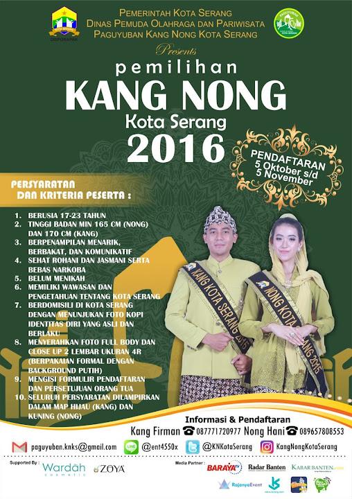 Form Pendaftaran Kang Nong Kota Serang 2016