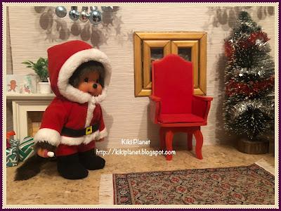 kiki monchhichi noël christmas père-noël santa claus cadeaux