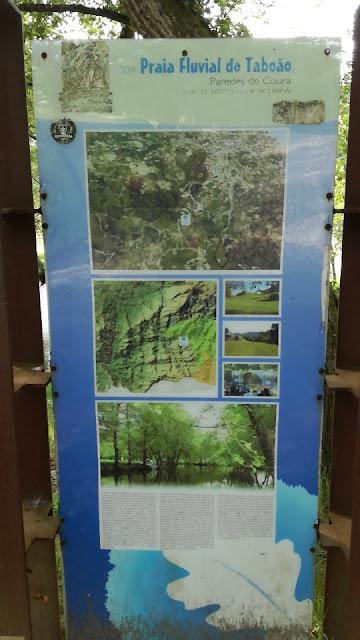 Placa da Praia Fluvial do Taboão