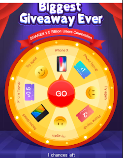 Aplikasi ShareIt Lagi Bagi-Bagi Hadiah. Ada Iphone X sama Redmi Note 5 Juga! Ayo Ikutan Eventnya Gratis!!