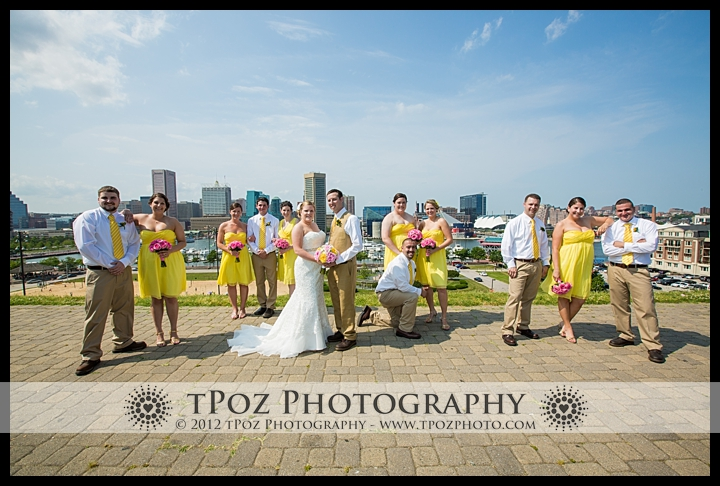bridal party on federal hill park