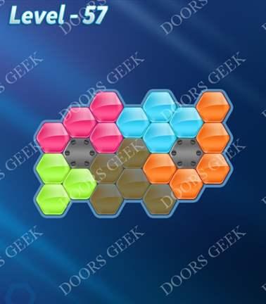Block! Hexa Puzzle [Rainbow A] Level 57 Solution, Cheats, Walkthrough for android, iphone, ipad, ipod