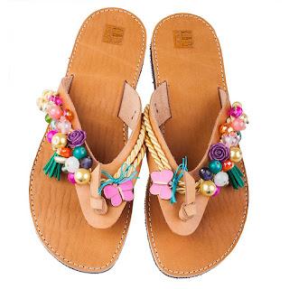Decorated sandals