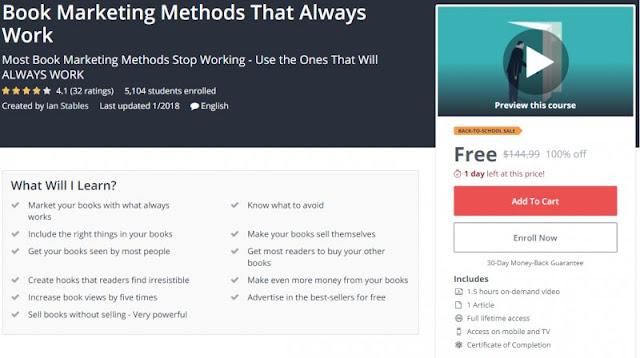 [100% Off] Book Marketing Methods That Always Work  Worth 144,99$