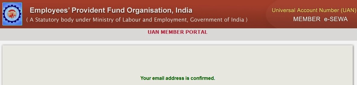 UAN - Email Address Verified