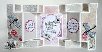 Stamp/Die Duos: Friend to Friend  Stamp Set: Sentiments Collection 3  Custom Dies: Double Display Card, Double Display Layers, Fancy Circles, Filigree Circles, Ornate Ovals, Ovals, Bitty Blossoms, Flourishy Frames, Pierced Ovals, Pierced Squares, Squares  Paper Collection: Shabby Rose, Shabby Pastels