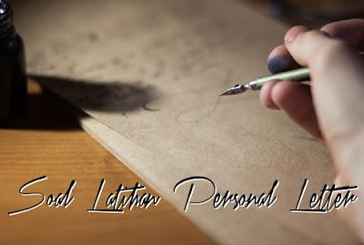 Letter atau surat merupakan salah satu cara komunikasi yang dilakukan oleh manusia sejak  Berbagai Bentuk Soal Latihan Personal Letter