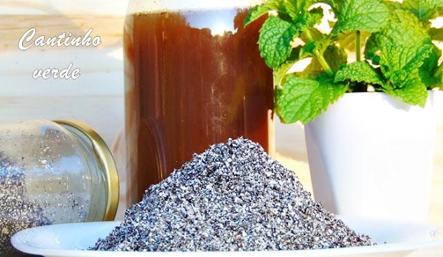 Fertilizante liquido de borras de café e casca de ovo