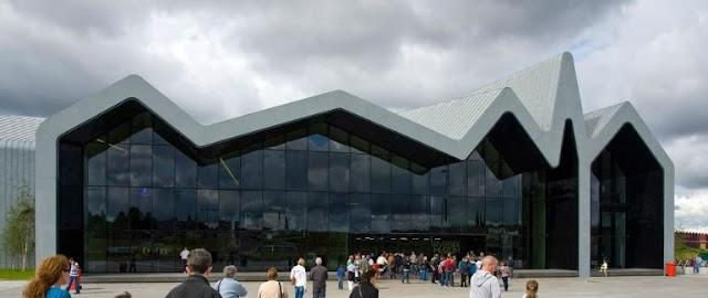 bangunan paling keren dan menarik di dunia glasgow skotlandia riverside museum skotlandia
