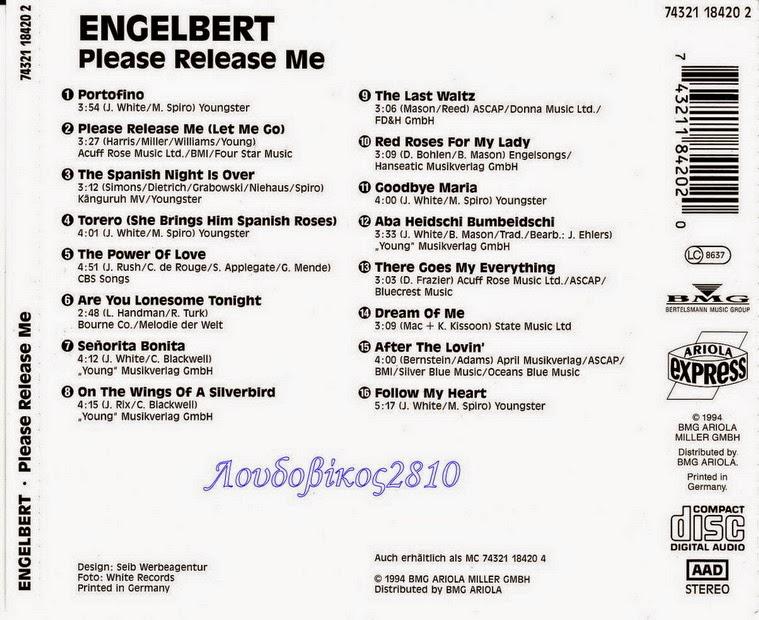 ENTRE MUSICA: ENGELBERT HUMPERDINCK - Please release me