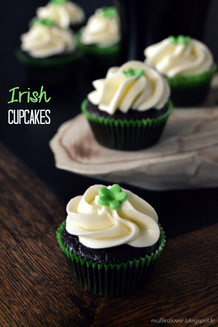 Recette Irish Cupcakes - muffinzlover.blogspot.fr