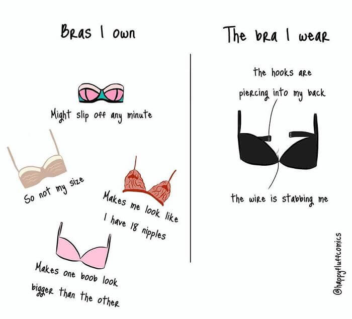 40 Hilarious Comics About How A Bra Can Ruin A Woman's Day - Stuff Men Will Never Understand