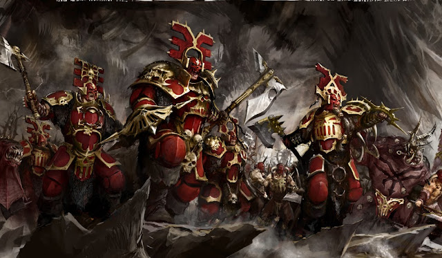 Warhammer age of sigmar khorne bloodbound blood warriors artwork battle ilustration fantasy