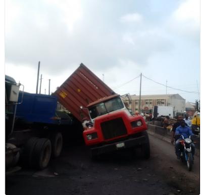 Danger Averted As Fully Loaded Petrol Tanker Falls Into