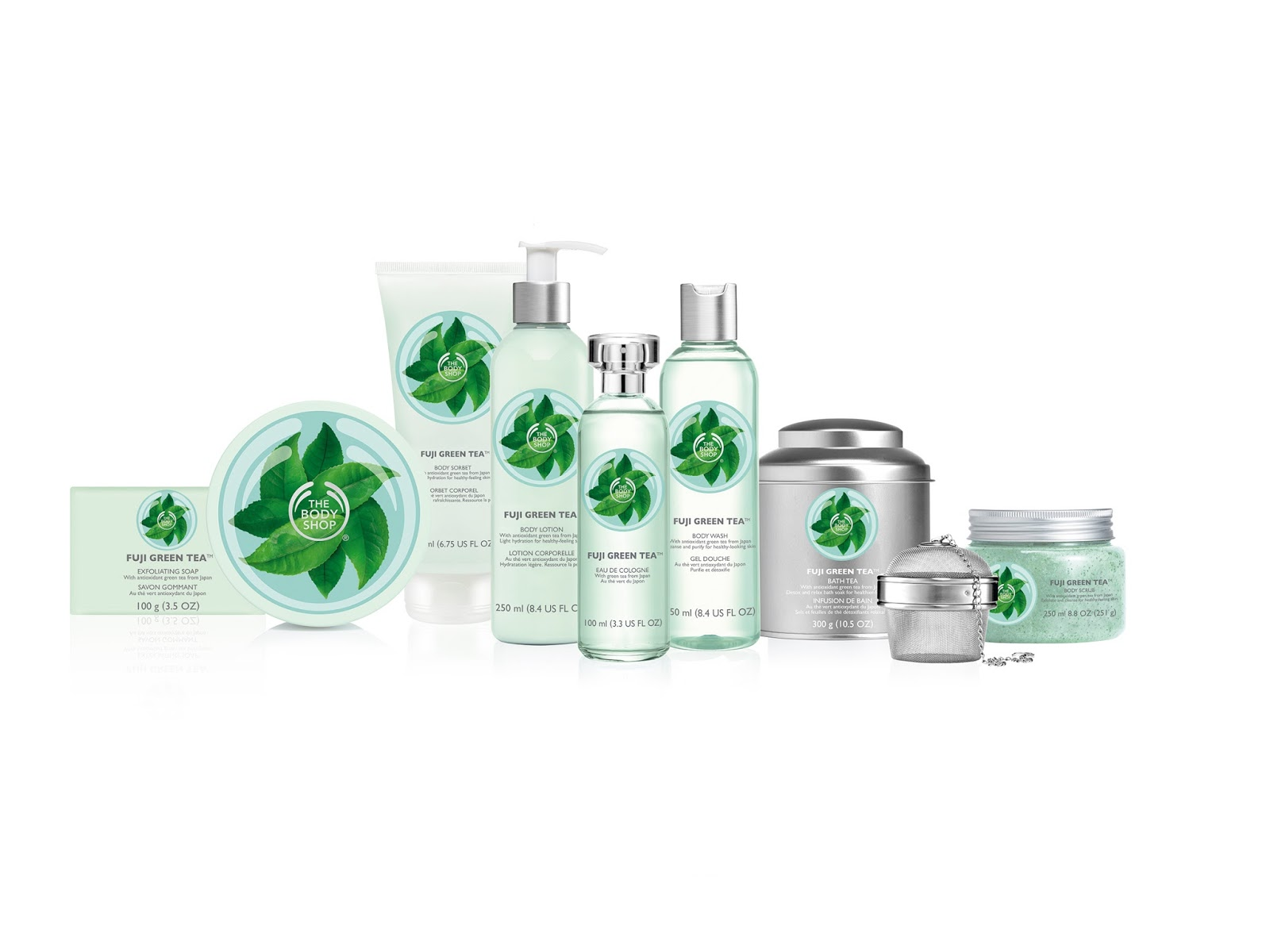 The Body Shop Fuji Green Tea Range