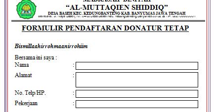Contoh Surat Donatur Tetap