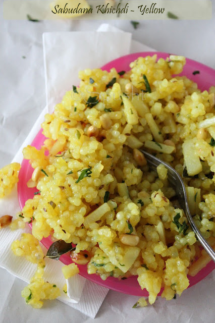 spusht | yellow sabudana khichdi using turmeric powder