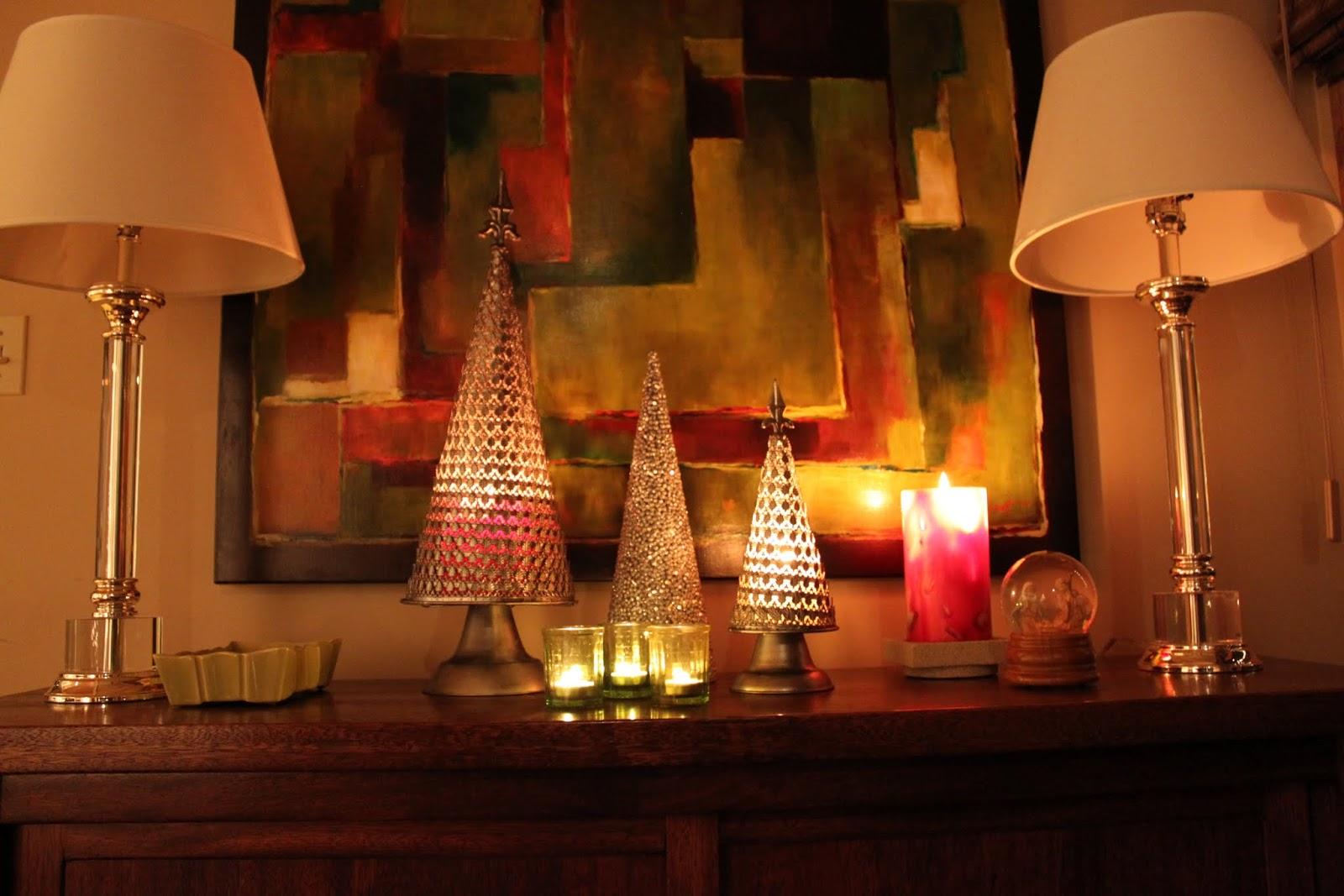 Mid Century Modern Christmas Buffet Decor