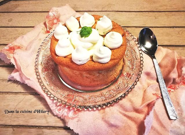 Angel cake au citron vert et basilic léger et savoureux - Dans la cuisine d'Hilary