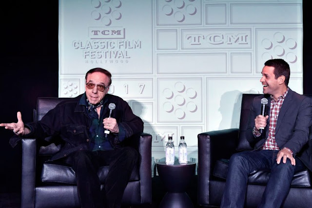 Peter Bogdanovich and Dave Karger at the 2017 TCM Classic Film Festival