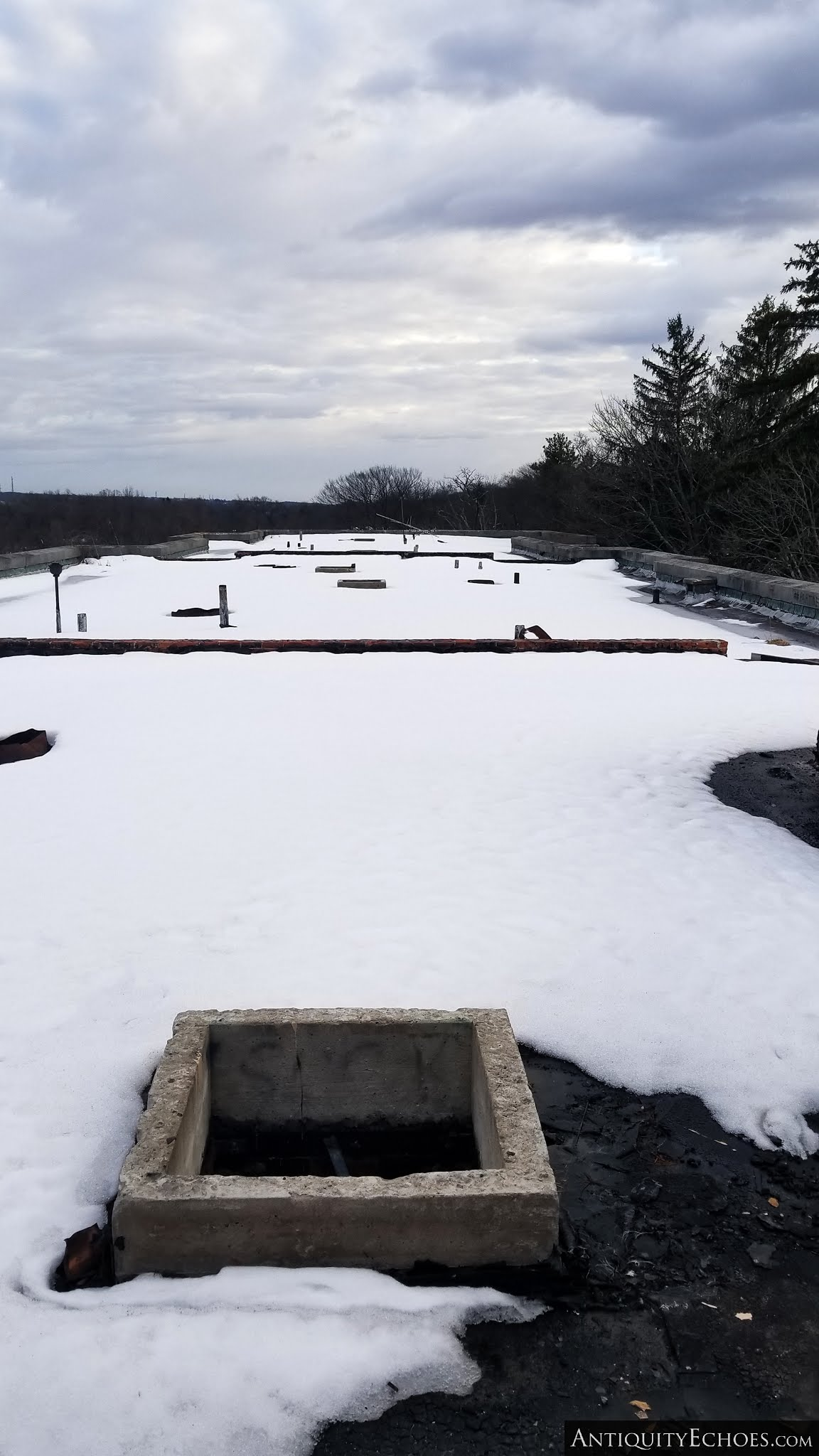 Overbrook Asylum - Snowy Rooftops of Builing 11