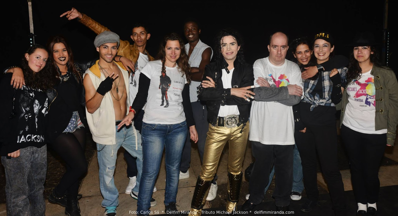 Delfim Miranda - Michael Jackson Tribute - With crew and M.J. Fans after the Show