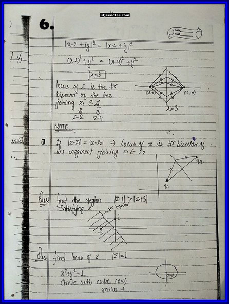 iitjee notes on complex number 5
