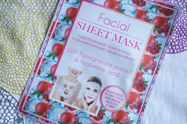 action facial sheet mask pomegranate hyaluronic