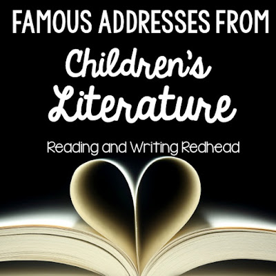 Reading and Writing Redhead - Famous addresses from children's literature and how I used them as part of my flexible seating classroom