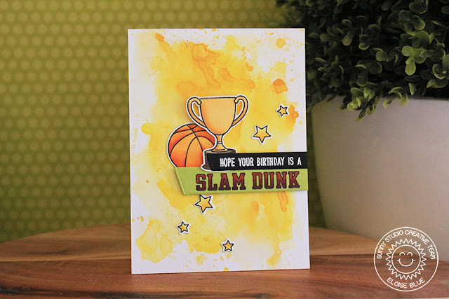 Sunny Studio Stamps: Team Player Masculine Sports Themed Birthday Card by Eloise Blue