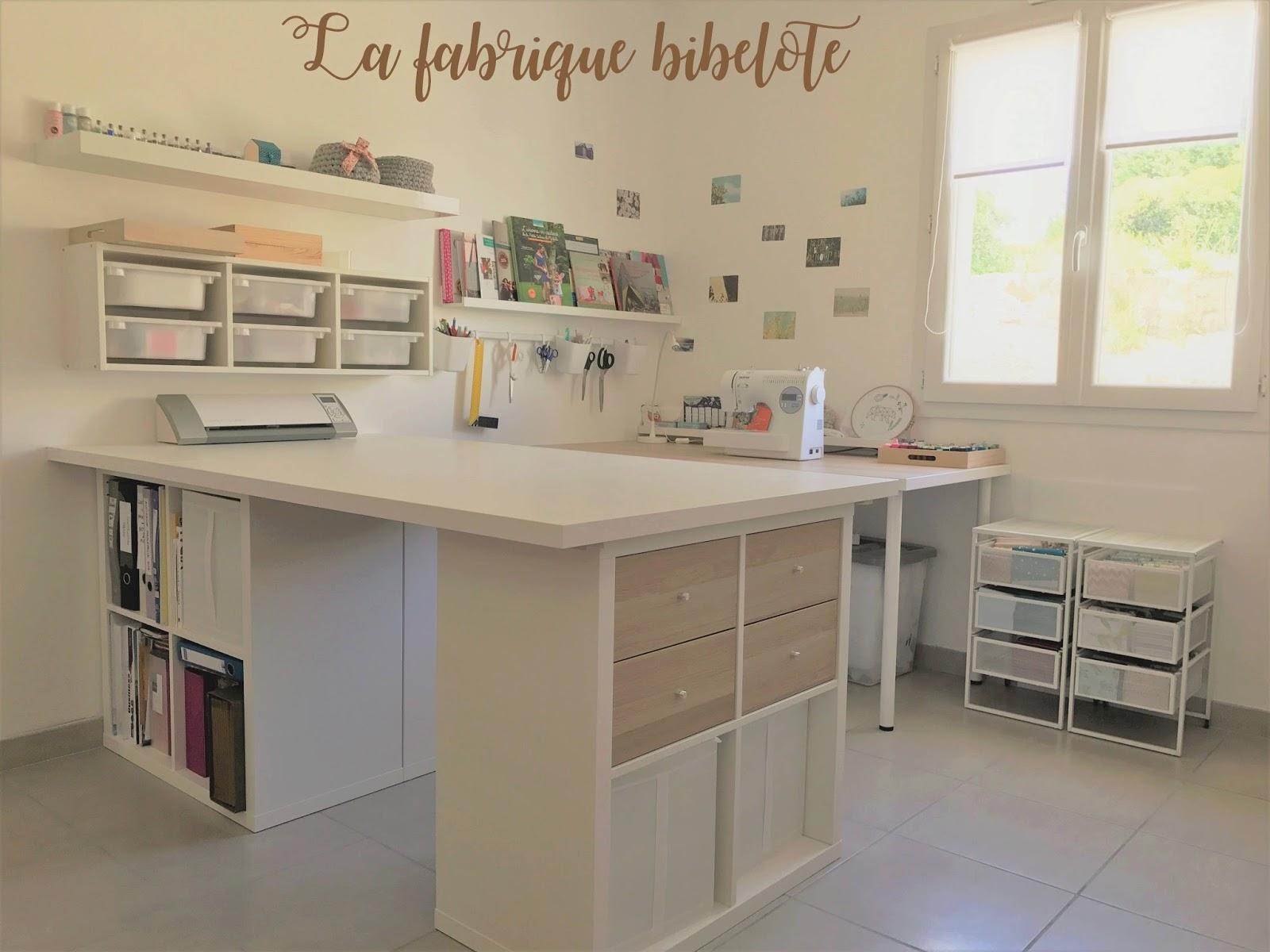 la fabrique bibelote bla bla 4 l 39 am nagement de mon atelier couture avec des meubles ikea. Black Bedroom Furniture Sets. Home Design Ideas
