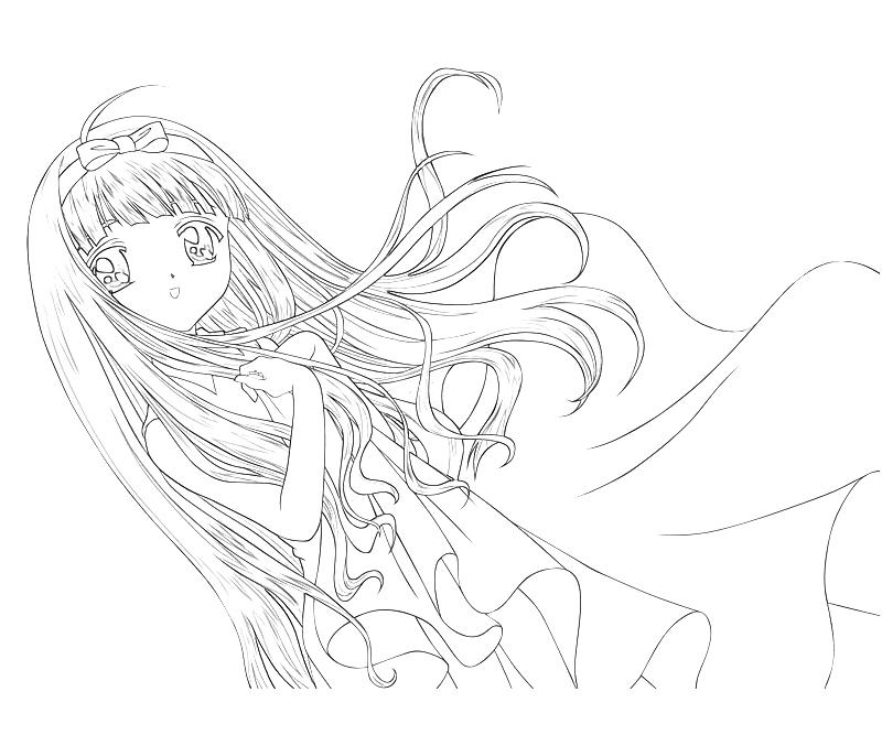 Cardcaptor sakura tomoyo daidouji character mario for Cardcaptor sakura coloring pages