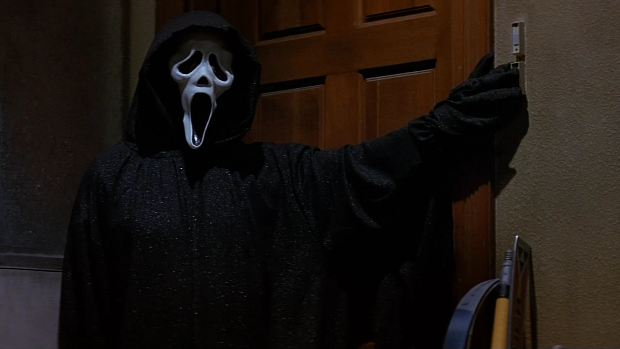 Ghostface in the garage from Scream (1996)