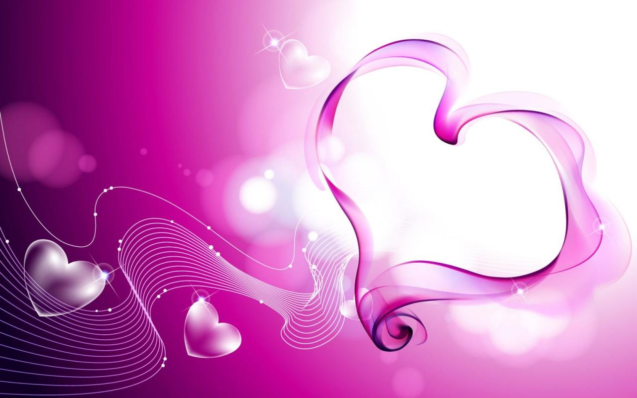 Pink Love Heart Wallpaper