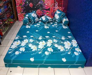 Sofa bed inoac motif bunga alya tosca ijo pupus