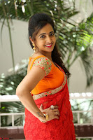 Lasya Cute Beauty in Saree Backless Choli at her Interview ~  Exclusive 072.JPG