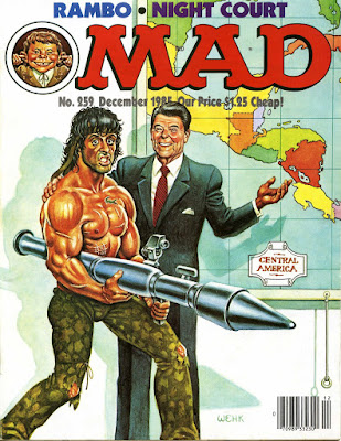 1985 Mad magazine cover with Reagan and Rambo
