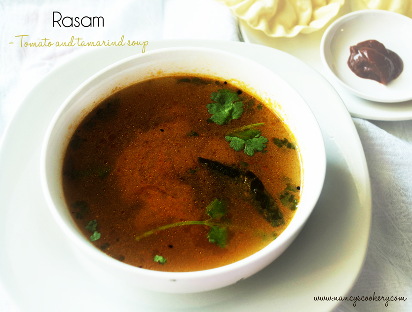 Rasam - Tomato and tamarind soup
