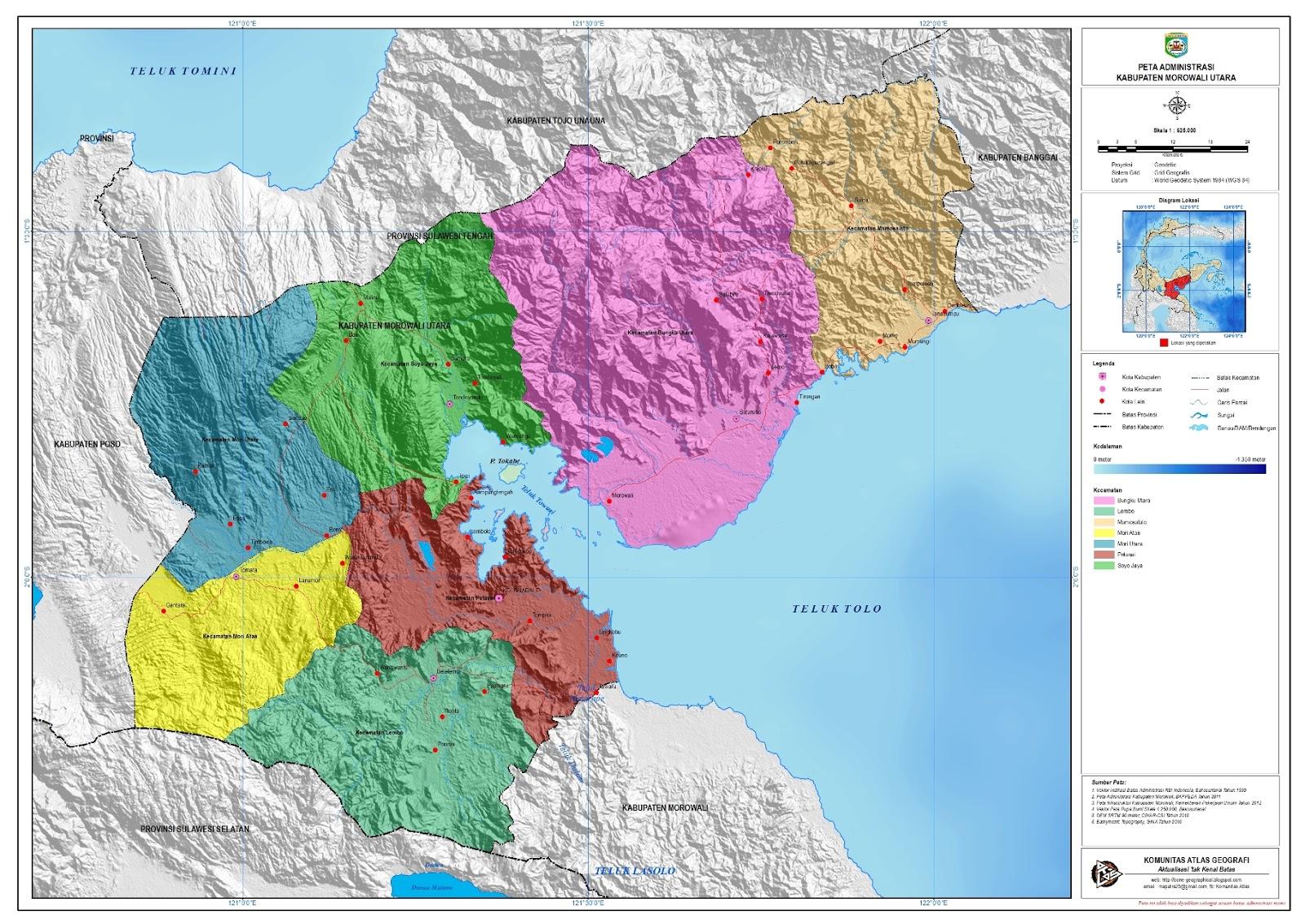 Peta Administarsi Kabupaten di Sulawesi Tengah - Catatan ...
